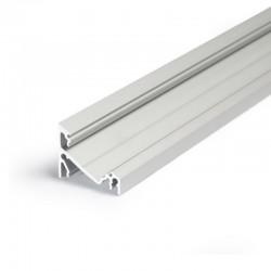 Rohový hliníkový profil pre LED pásy CORNER14 s vnútornou šírkou pre nalepenie LED pásov 14mm
