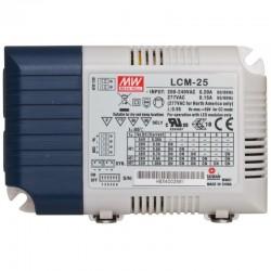LED prúdový napájací zdroj Mean Well LCM-25