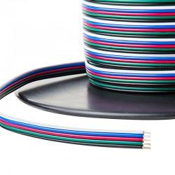 Päťlinka 5x0,5mm pre RGBW LED pásy biela-modrá-červená-zelená-čierna