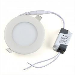 Kruhový zápustný LED panel 6W 460Lm Denná biela 4000K LUMENIX