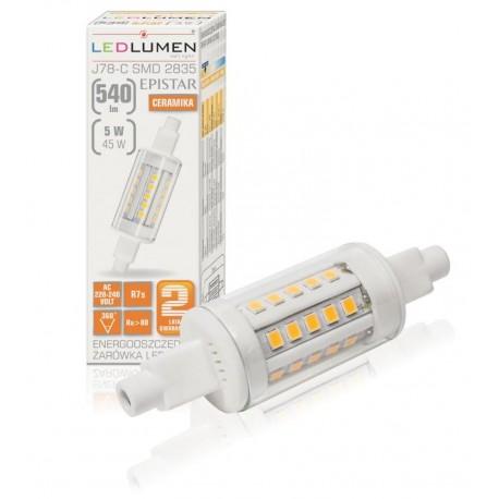 R7S - 78mm 30LED SMD2835 5W 540Lm Warm White Ceramic LEDLUMEN