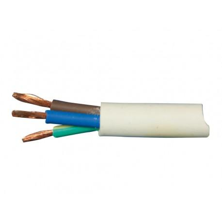 Kábel elektrický CYSY 3x1mm 3Cx1B H05VV-F Biely