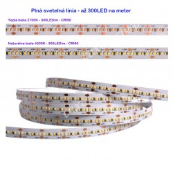 LS 300LED SMD2216 24W 1840Lm Natural White 24V CRI90 EPISTAR