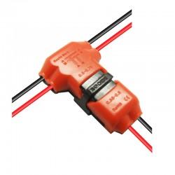 Klik T-konektor 2-Wire 0,35-0,75mm 300V 10A