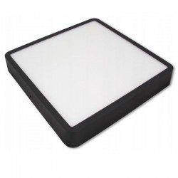 LED Panel Square 22,8x22,8cm 24W 1920Lm Natural White-Prisadený-Black- masterLED