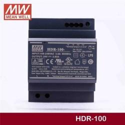 LED napájací zdroj 24V-92W Mean Well HDR-100-24 DIN