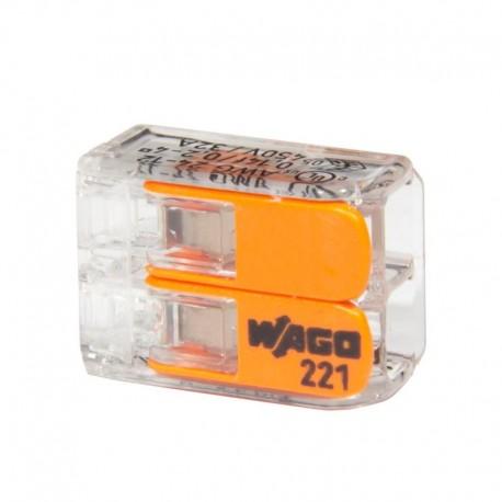 WAGO svorka bezskrutková COMPACT 2x0,2-4mm 221-412