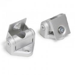 Montážne konzoly pre hliníkové profily - naklápateľné - strieborné