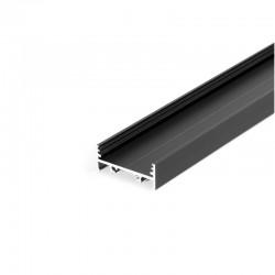 Hliníkový profil pre LED pásy - konštrukčný VARIO30-01 Black