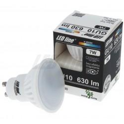 Keramická LED žiarovka GU10 10LED SMD2835 7W 630 Lumenov Teplá biela 2700K LED line®