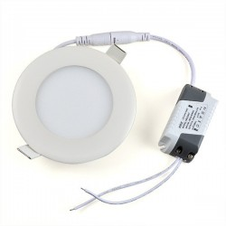 LED panel Round 120mm 6W 360Lm Warm White MILIO