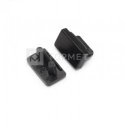 Koncovky pre hliníkový profil SLIM8 black/ pár