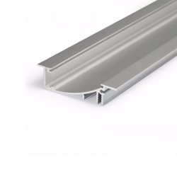 Hliníkový profil pre LED pásy FLAT8 - zápustný - ELOX