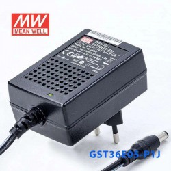LED napájací zdroj zástrčkový 5V 21,5W Mean Well GST36E05-P1J