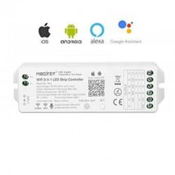 RF prijímač pre riadenie LED pásov 5in1DIMM, CCT, RGB, RGBW, RGB+CCT  5x6A (15A) MiLight