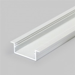 Hliníkový profil pre LED pásy VARIO30-06 zápustný - biely