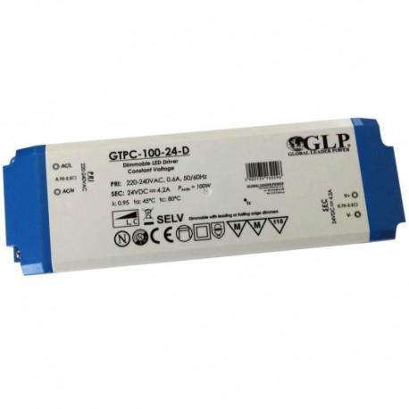 LED nábytkový stmievateľný napájací zdroj 24V-100W IP20 GTPC-100-24-D