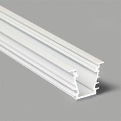 Hliníkový profil pre LED pásy DEEP 23x19 - zápustný - biely
