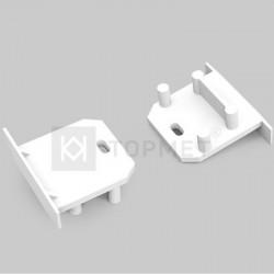Koncovky pre hliníkový profil DEEP 23x19 biele/pár