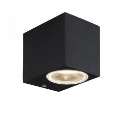 Svietidlo nástenné WALLY-K 1xGU10 čierne IP44