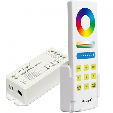 Set RGBW kontrolér 2,4GHz RF DO+držiak DC12-24V 15A MiLight