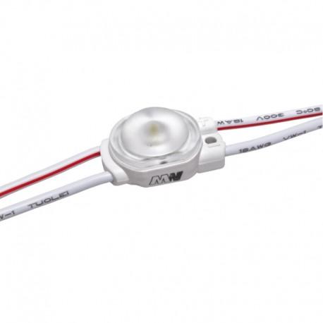 LED modul 0,36W 58Lm 12V Cold White 170° IP67