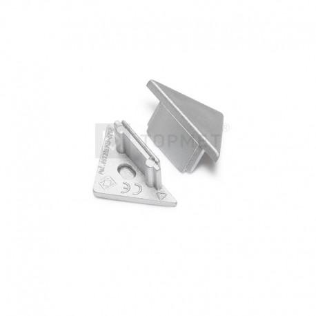 Koncovky pre hliníkový profil TRIO - strieborné