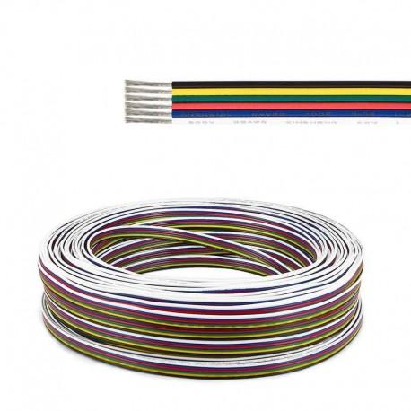 Šesťlinka 6x0,32mm pre RGBCCT LED pásy-plochá