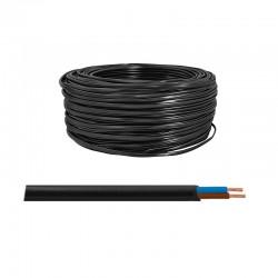 Elektrický kábel H03VVH2-F 2x0,5mm plochý čierny