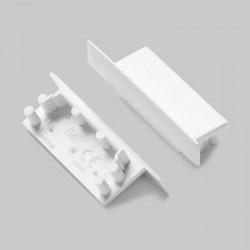 Koncovky pre hliníkový profil VARIO30 - 06-plast - biele/pár
