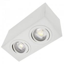 Svietidlo stropné prisadené PIAZZA 2xGU10 160x80x90mm - biele matné