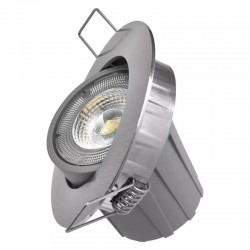 LED stropné svietidlo 7,5W 650Lm Natural White 100° Downlight - brúsený nikel