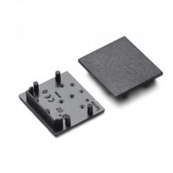 Koncovky pre hliníkový profil VARIO30-02 - plast - čierne/pár