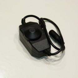 Flexo stmievač pre LED manuálny DC 12/24V 2A čierny