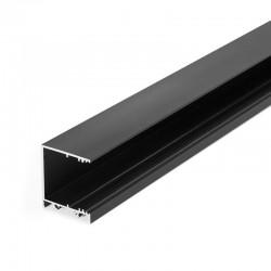 Hliníkový profil pre LED pásy - konštrukčný VARIO30-03 čierny anodovaný hliník