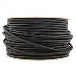Kábel elek. textilný H03VV 2x0,75 300/300V čierny