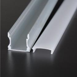 Hliníkový profil pre LED pásy PRISADENÝ 17x14mm ELOX