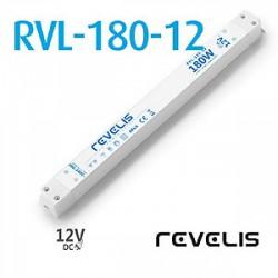LED nábytkový napájací zdroj 12V-180W 15A RVL-180-12