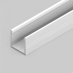 Prisadený hliníkový profil 18,8 x 18,6mm SMART16 biely lakovaný