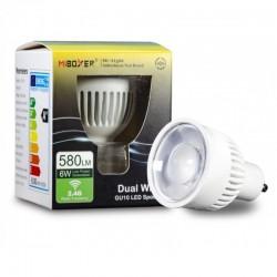 GU10 LED CCT 2700-6500K 6W 580Lm 30° RF 2,4GHz MiLight