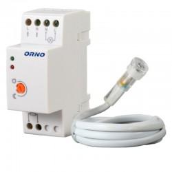 Súmrakový spínač osvetlenia na DIN lištu AC230V 10A so sondou IP65 ORNO