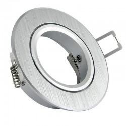 Rámček výklopný hliníkový okrúhly BRG-česaný hliník