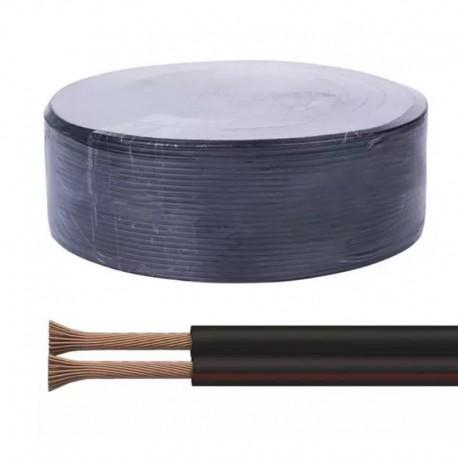 Ekonomický variant napäťovej dvojlinky 2x1,5mm² čierna-červená (ECONOMIC-hliník plátkovaný meďou)