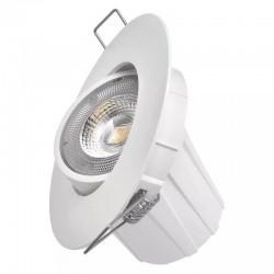 LED stropné svietidlo 8W 650Lm Natural White 100° Downlight - biele