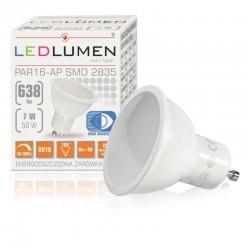 Stmievateľná LED žiarovka GU10 7LED SMD2835 638 Lumenov Naturálna biela farba svetla LEDLUMEN