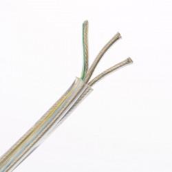 Kábel elek. do svietidiel 3x0,75mm 300V transparentný s dvojitou izoláciou