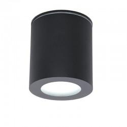Svietidlo stropné prisadené CLEO-O-SB 1xGU10 80x90mm - čierne pieskované IP44