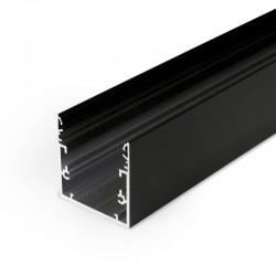 Hliníkový profil pre LED pásy - konštrukčný PHIL53 Black 2m