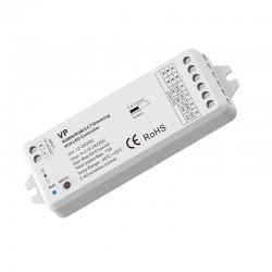 RF prijímač pre riadenie LED pásov 4in1-DIMM, CCT, RGB, RGBW 4x6A (15A) SKD-VP