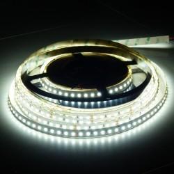 Flexibilný LED pás 120 LED SMD 2835 12W/m 1560 Lumenov DC 24V Studená biela 6000K 10mm šírka DPS